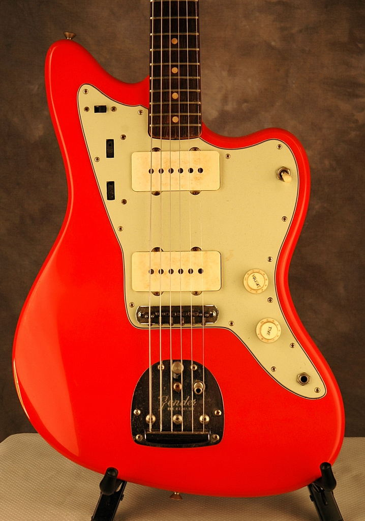 1963 Jazzmaster Refinish In Fiesta Red Joel A Shinn Luthier