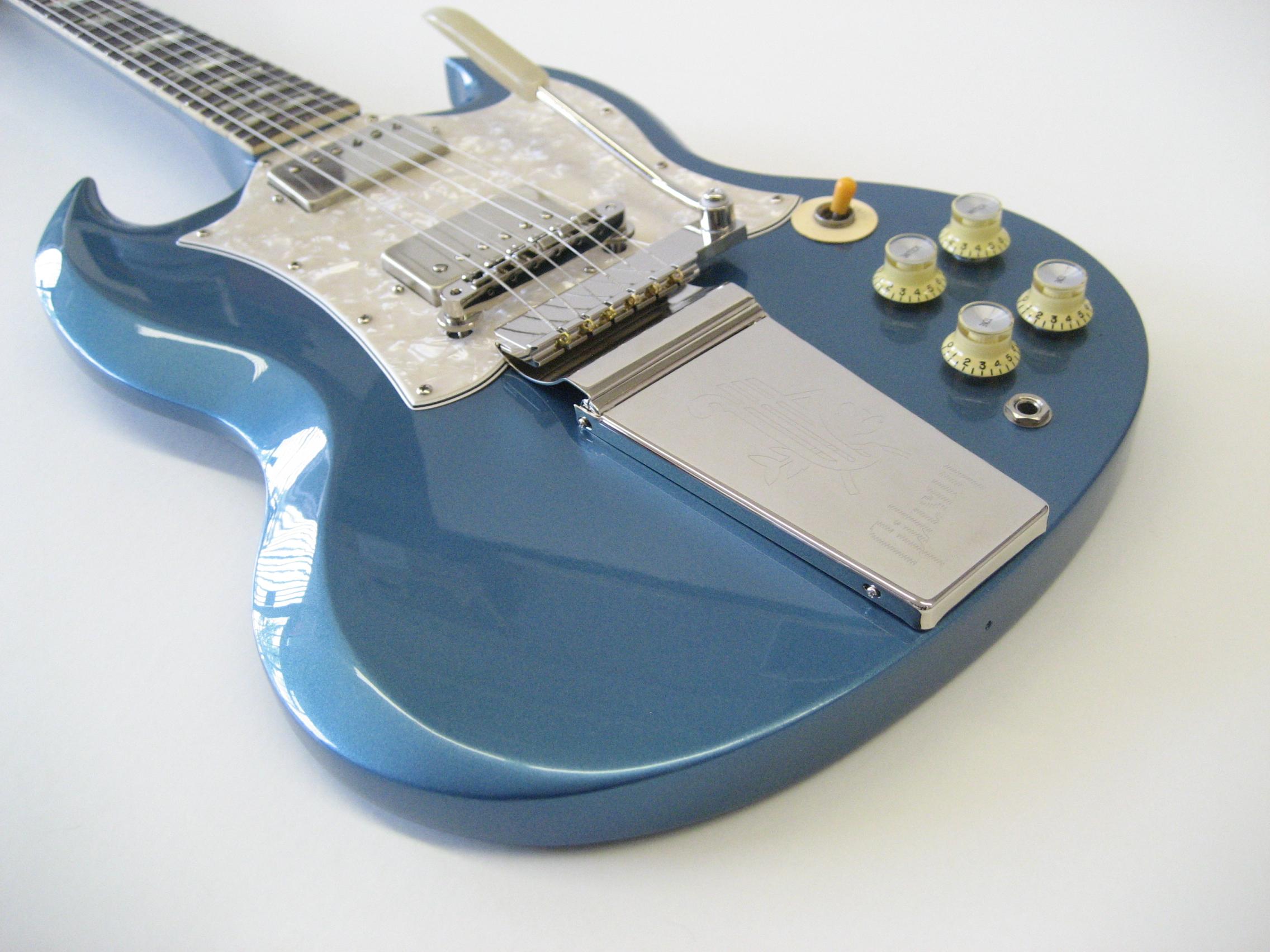 Gibson Sg In Pelham Blue Joel A Shinn Luthier